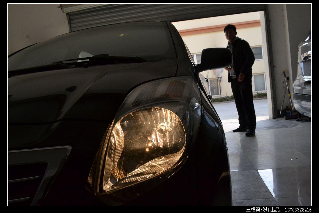 丰田雅力士爆改q5双光透镜华科安定欧司朗4300k氙灯光