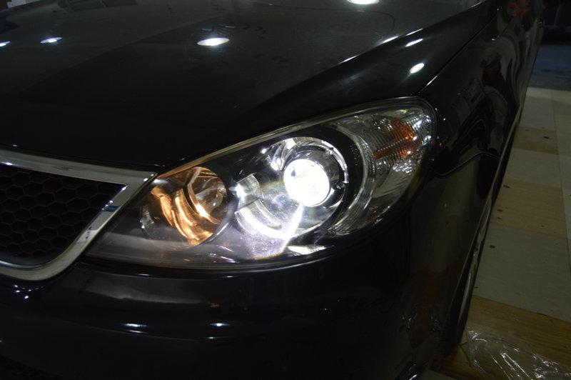 大众朗逸升级q5透镜 雪莱特灯泡 奥兹姆安定 20151114 青岛三横渠汽车