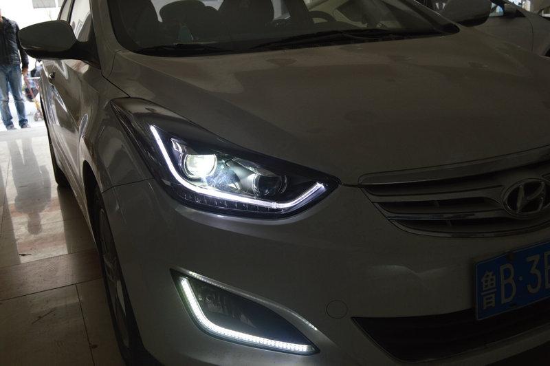 朗动升级led日行灯总成 20160326 青岛三横渠汽车大灯改装